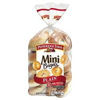 Pepperidge Farm® Plain Mini Bagels - 12 Count