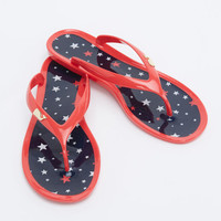 Printed Flag Jelly Flip Flop