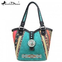 Montana West Cowgirl Western Aztec Turquoise Stoned Concho Collection Shoulder Handbag:Amazon:Shoes
