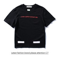 Cheap Women's and men's OFF-WHITE t shirt for sale 85902898_0198
