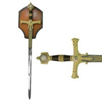 The King Solomon Sword with display plaque