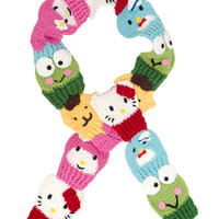 HELLO KITTY AND FRIENDS KNIT SCARF - Default Title