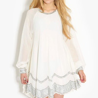 Brenda Embellished Swing Dress
