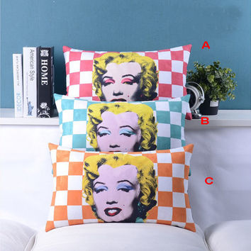 Marilyn Monroe pillow cover, decorative pillow cover, pillow cover, velvet pillow cover, lumbar pillow cover, bedding pillow cover, pillows