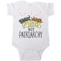 Puppies Not Patriarchy -- Baby Onesuit