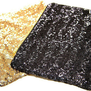 Sequined Clutch Gold Silver Black