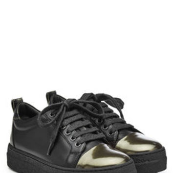Leather Sneakers with Platform - Brunello Cucinelli | WOMEN | US STYLEBOP.COM