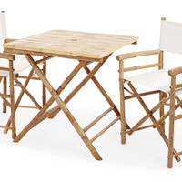 Square Dining Set, White, Outdoor Dining Sets