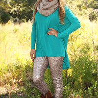 Time On The Heart Tunic: Caribbean Green