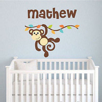 Monkey Branch Name Wall Decal
