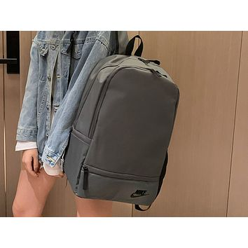 NIKE fashion sells casual lady's backpacks in solid color Gray