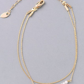 Ivory Bead Gold Necklace