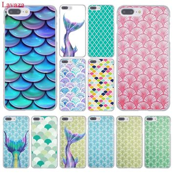 Lavaza Colorful Polka Dot mobile Mermaid Hard Phone Case for Apple iPhone 8 7 6 6S Plus X 10 5 5S SE 5C 4 4S