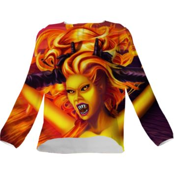 Mad Dolores Goddess of fire Silk Top