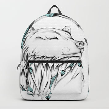 Poetic Bear Backpack by loujah