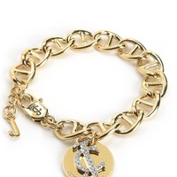 Pave Jc Link Disc Bracelet by Juicy Couture