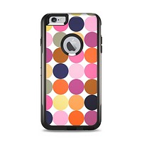 The Solid Pink & Blue Colored Polka Dots V2 Apple iPhone 6 Plus Otterbox Commuter Case Skin Set