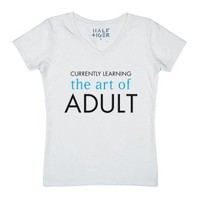 Currently Learning the Art of Adult-Unisex White T-Shirt