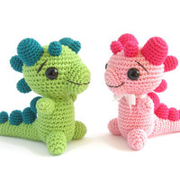 CROCHET PATTERN  Rattle  Baby Dragon  Photo tutorial by SIDRUNsZoo