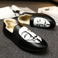 Casual Shoes PU Leather Men Loafers Moccasins Non-Slip Walking Shoes Men's Flats