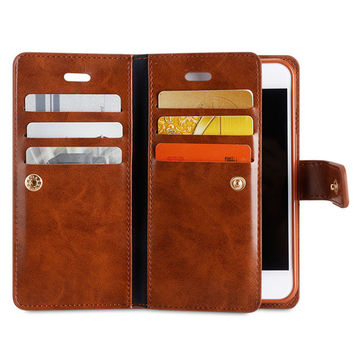 Faux Leather Phone Protection Holster iPhone 7Plus Shell Retro Leisure Wallet For Men