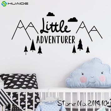Little Adventurer Home Wall Decal Sticker Adesivo de parede Vinyl Wall Stickers For Kids Room Baby Room Nursery Wallpaper A374