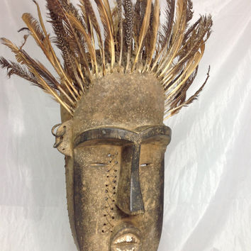 African Tribal Mask, Wobe - Guere - Ceremonial Mask, Côte d'Ivoire and Liberia, African Mask