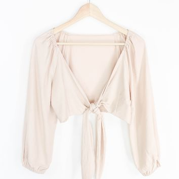 Milla Tie Top - Blush