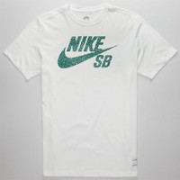 Nike Sb Icon Mezzo Dri-Fit Mens T-Shirt White  In Sizes