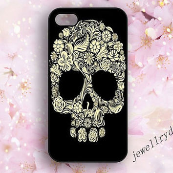 Skull iPhone 5/5s Case,Day of the Dead iPhone 4/4s case,Sugar Skull iPhone 5c Cover,Memento Skull,Boho Skull,Samsung Galaxy S3 S4 S5 case