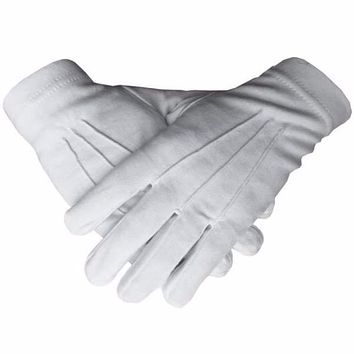 Masonic Regalia 100% Cotton White Gloves Plain