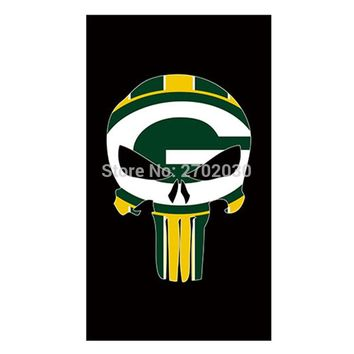 Black Skeleton Green Bay Packers Flag Banners Football Team Flags 3x5 Ft Super Bowl World Champions Banner Decoration