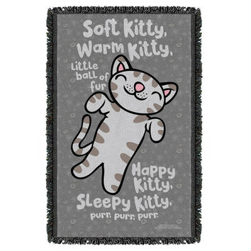 Big Bang Theory/Kitty Woven Throw Blanket