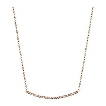 SHASHI Bar Pave Pendant Necklace