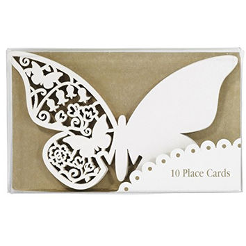 TALKING TABLES SOMETHING IN THE AIR IVORY 10-Pack Ivory Butterfly Place Cards
