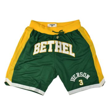 Allen Iverson Bethel High School Front Logo Basketball Shorts