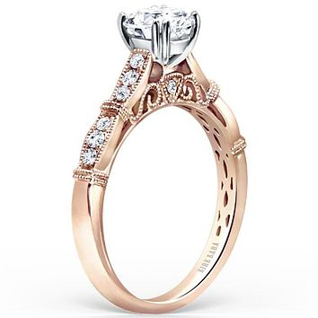 "Kirk Kara ""Stella"" Round Cut Diamond Engagement Ring"