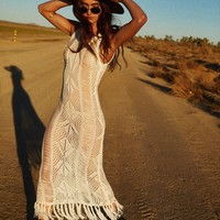 Bare It All Fringe Cover Up