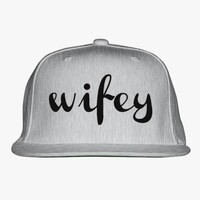 Wifey Embroidered Snapback Hat