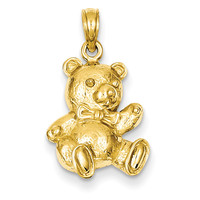 14k Teddy Bear Pendant C4002