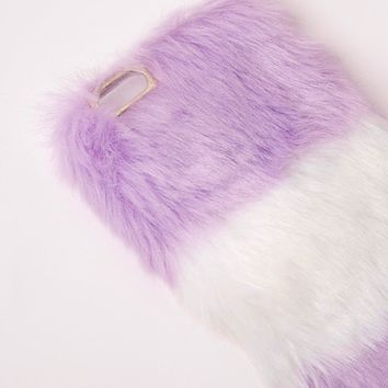 Missguided - Fluffy iPhone 6 Case Purple