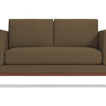 Walton Apartment Size Sofa in PERFORMANCE EARTH - CLEARANCE