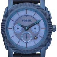 Fossil FS4703 Blue Dial Mens Watch