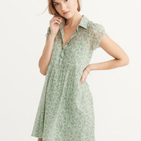 Womens Tulip Sleeve Shirtdress | Womens New Arrivals | Abercrombie.com