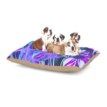 "Ebi Emporium ""Efflorescence - Lavender Blue"" Teal Purple Dog Bed"