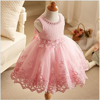 high quality toddler girls lace dress ruffle tulle vest dress baby girls tutu dress 2-7y kids clothing summer