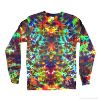 Earth Crackle Long Sleeve Tie Dye T-Shirt on Sale for $23.99 at The Hippie Shop