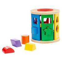 Melissa & Doug® Match and Roll Shape Sorter - Classic Wooden Toy