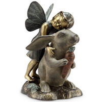 SPI Garden Collection Happiness Garden Sculpture (Fairy and Rabbit)