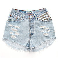 The Wolf Shorts by Batoko | Batoko Shorts | Levis Reworked Remade Denim Shorts | BATOKO